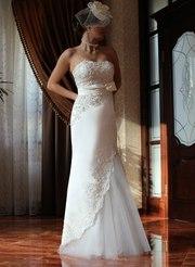 свадебное платье А-силуэта,  размер 44-46,  новое!